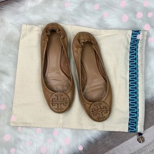 Authentic preloved Tory Burch Reva flats size 8.5